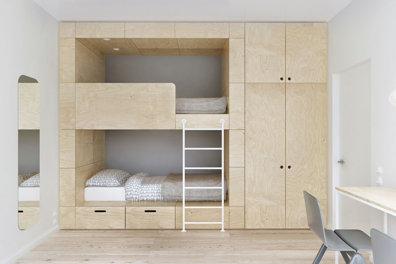 Inspirasi Desain Built In Bunk Bed