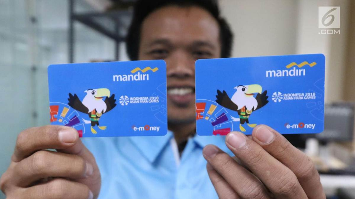 e-money terbitan bank Mandiri edisi Asian Games 2018